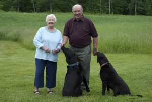 Innkeepers John & Sandra with Lucky and Lady
