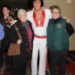 Innkeeper Sandra with Anthony Shore as Elvis and neighbor Deb Anderson