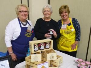 Innkeeper Sandra and her new jam with Wendy Bertram, left, and Jayne Bertram Reis, right.