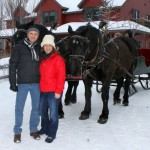 Contest winners Sharon & George Powloitschek about to enjoy a sleigh ride.