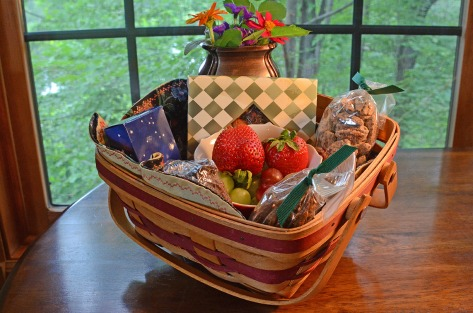 "We say ""Welcome!"" with a basket of fruit and goodies in your room."