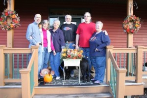 Friends Dan & Donne, Susan & Dennis and Gene & Nancy have a combined total of 21 visits to Woodland Trails!
