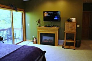All rooms also have a private deck or balcony, TV and electric fireplace.