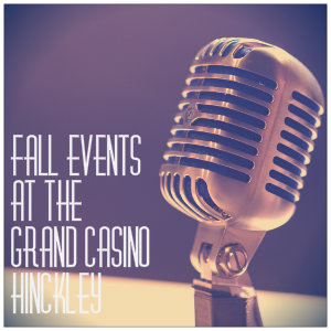 Retro microphone with text fall events at grand casino hinckley - image by matt botsford unsplash.com